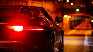 Jaguar F-Type SVR Tunnel Run - taillights