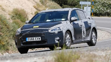 2018 Ford Focus spy shot front quarter