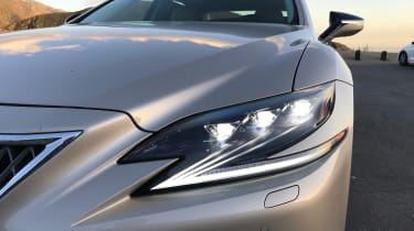 Lexus LS review - headlight