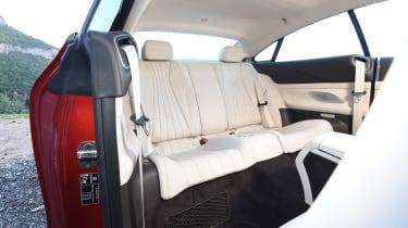 Mercedes E-Class Coupe - E 220d rear seats