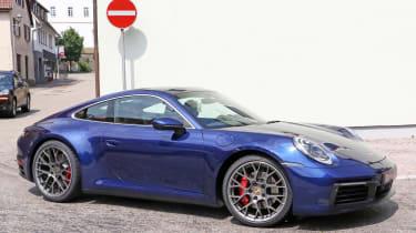 Next generation Porsche 911 turning