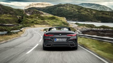 BMW 8 Series Convertible - full rear action