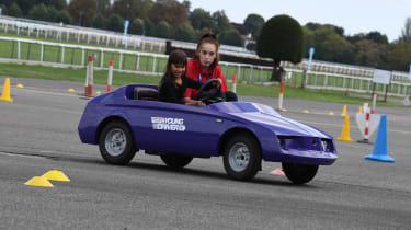 Kid Drivers - cornering purple