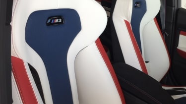 BMW M3 30th Anniversary US - seats