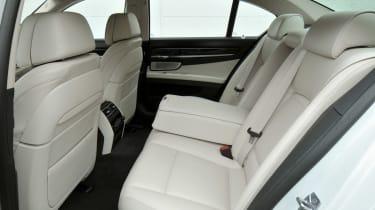 BMW 750i rear seats