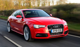 Audi A5 3.0 TDI Coupe front tracking