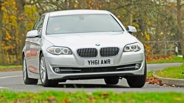BMW 5 Series front cornering