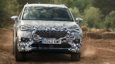 SEAT Tarraco prototype - front off-road