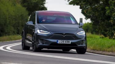 Tesla Model X - front tracking