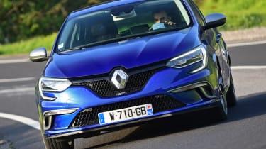 New Renault Megane 2016 hatchback GT front cornering