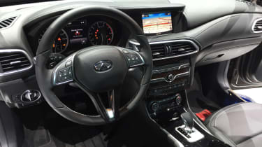 Infiniti QX30 SUV LA Show dashboard