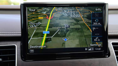 Audi A8 saloon 2014 satnav
