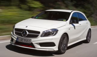 Mercedes A250 Sport side tracking