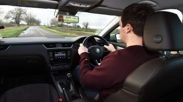 Skoda Octavia Scout long-termer - Otis driving