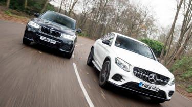 Mercedes GLC Coupe vs BMW X4 - head-to-head