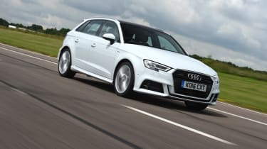 Audi A3 vs Volvo V40 vs Volkswagen Golf - A3 front tracking