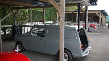 McLaren used to use this Mini van to test wings for its cars!