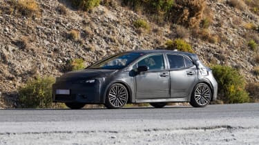 New Toyota Auris spied side front
