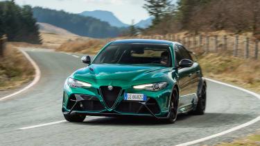 Alfa Romeo Giulia GTAm - front cornering
