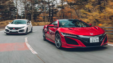 Honda Civic Type R and NSX