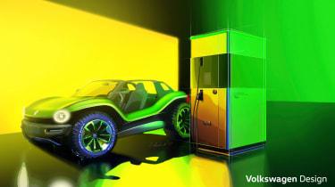Volkswagen ID. Buggy concept - charging
