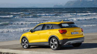Audi Q2 Yellow rear side