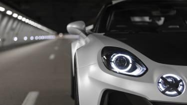 Alpine A110 SportsX - headlight