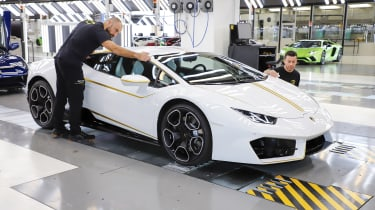 Pope Francis Lamborghini Huracan production line