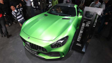 The Mercedes-AMG GT R on display in AMG's Goodwood stand.