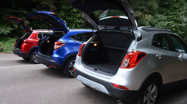 Vauxhall Mokka X vs Peugeot 2008 vs Honda HR-V - boots