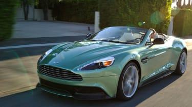 Aston Martin Vanquish Volante front action