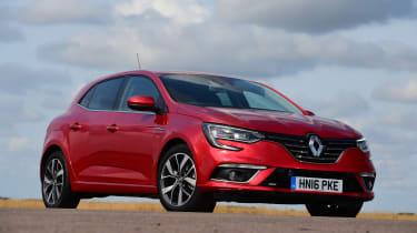 Renault Megane vs Vauxhall Astra vs SEAT Leon - Megane front three quarter