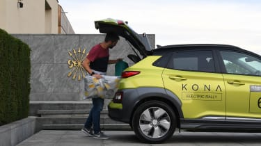 Hyundai Kona electric boot
