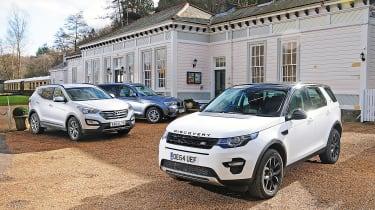 Land Rover Discovery Sport vs Hyundai Santa Fe vs BMW X3