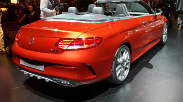Mercedes C-Class Cabriolet - rear orange show