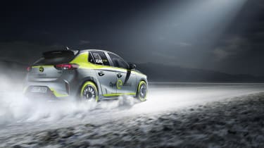 Vauxhall Corsa-e rally - rear tracking