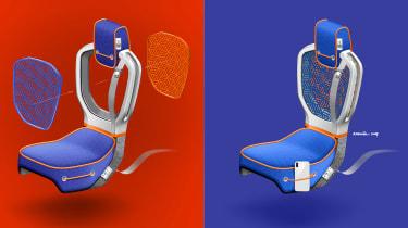 Citroen AMI ONE concept - seats sketch