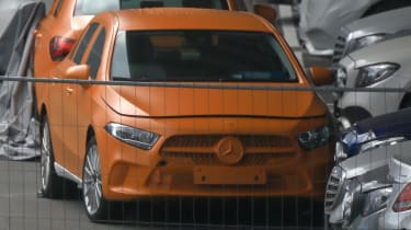 Mercedes A-Class spy shot front