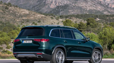 Mercedes GLS - green rear static