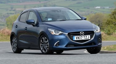 Mazda 2 - front action blue