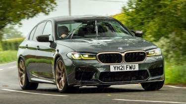 BMW M5 CS - front cornering