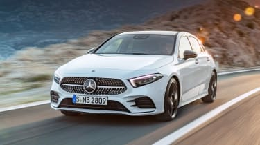 New Mercedes A-Class - white front tracking