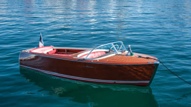 It's quite clearly not a car, but an auction on the shores of one of the most stunning lakes in the world wouldn't be complete without one of the most effortlessly-cool and chic boats ever to grace the waters up for grabs.