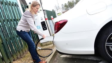 Mercedes E 300 de - long-term review - charging