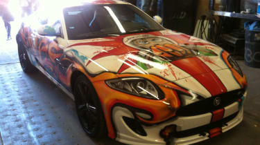 It took just two days to 'paint' this Jaguar XK