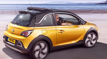 Vauxhall Adam Rocks yellow rear