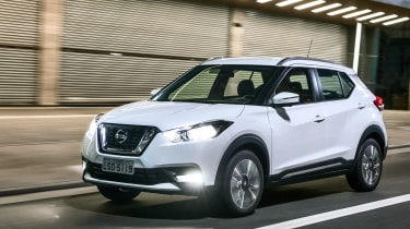 Nissan Kicks SUV - front tracking 2