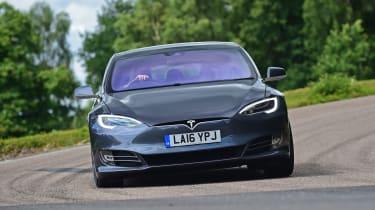 Tesla Model S 2016 facelift head on