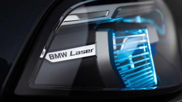 New BMW X7 studio shoot laser lights