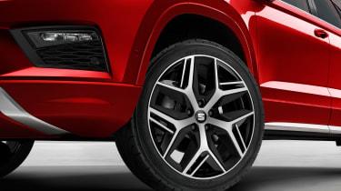 seat ateca fr wheel close up